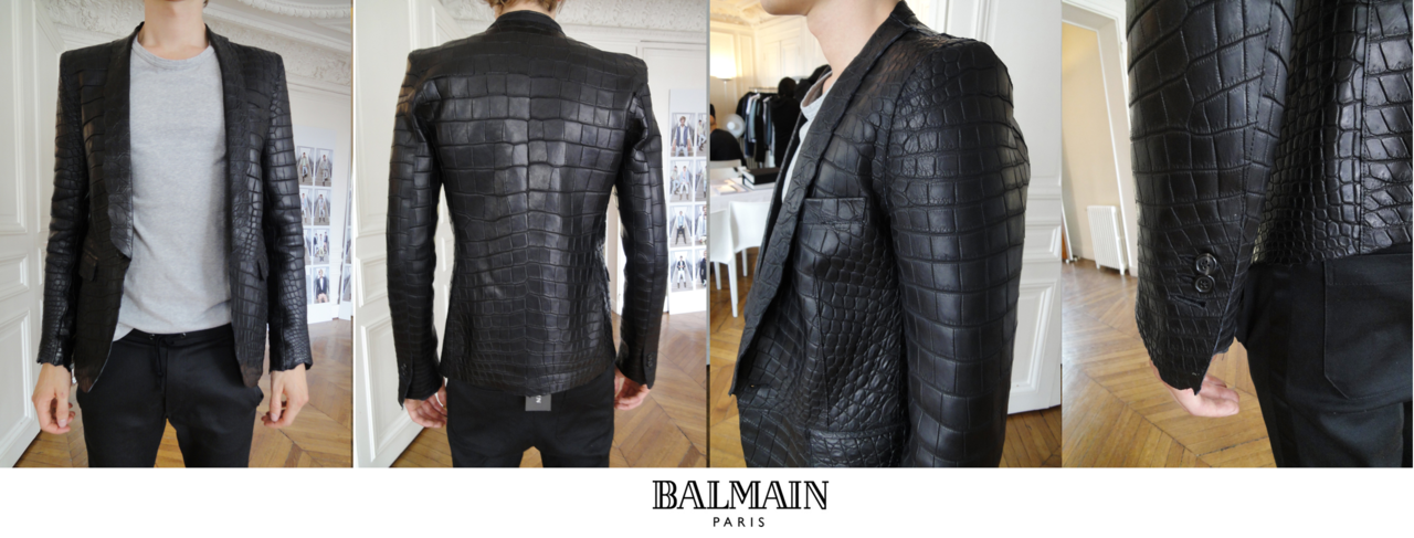 Balmain Crocodile blazer  | Original Blog of